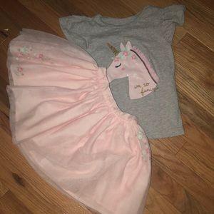 Like new skirt and top